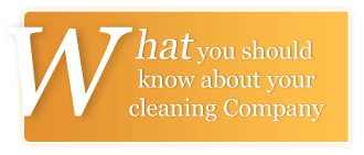 What you should know about your cleaning company